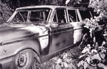 Burned car from MIBURN case