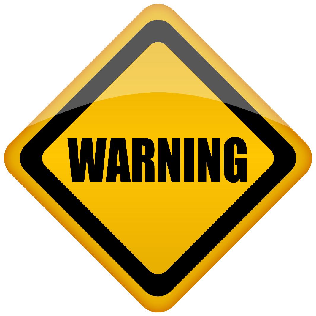 Warning sign (stock image)
