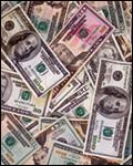 Cash lying flat (stock image)