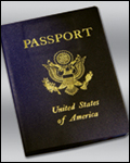 Cover of a passport (stock image)