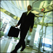 Man with briefcase, stock image