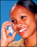 Woman on the phone (stock image)