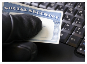 Cyber thief with social security card