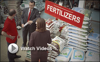Agents in Fertilizer Store with Watch Video Button