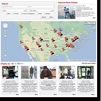 Screen Capture of Wanted Bank Robbers Website