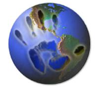 Crimes Against Children Logo with Hand on Globe